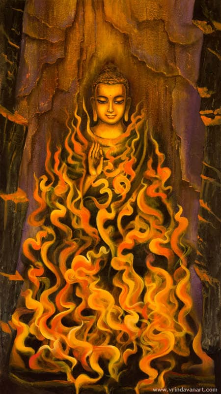 Buddha. Fire of meditation