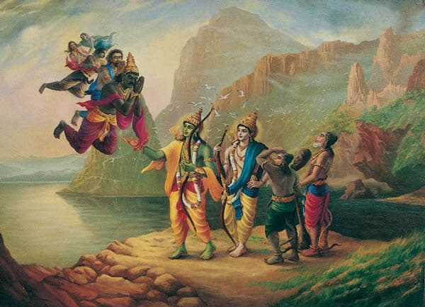 First meeting of Rama and Vibhishan