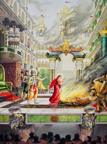 Sita enters the fire