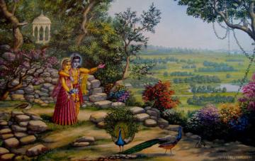 Radha Krishna on Govardhan hill